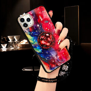 Diamond iPhone 8 7 6 6S SE Plus Cases Covers With Bear Ring IPS711