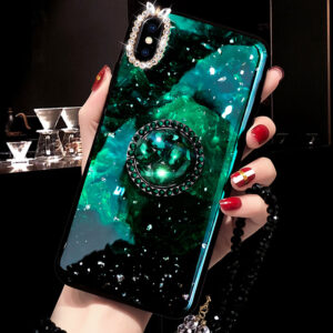 Diamond iPhone 8 7 6 6S SE Plus Cases Covers With Bear Ring IPS711_2