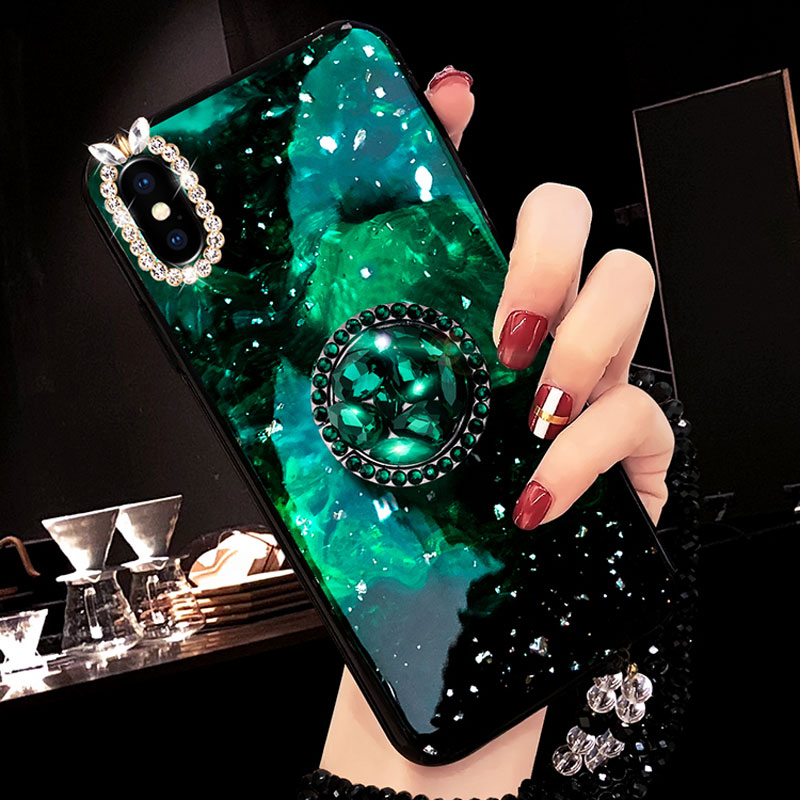 Diamond iPhone 7 6 6S SE Plus Cases Covers With Bear Ring IPS711_4