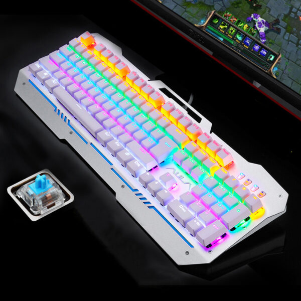 Cool Mechanical Keyboard With Colorful Light For Desktop PC PKB07_2