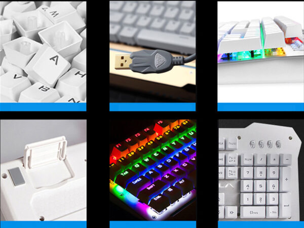 Cool Mechanical Keyboard With Colorful Light For Desktop PC PKB07_7