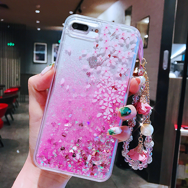 Perfect Glitter Flowing Sequins Cases Cover For iPhone 8 7 6 6S Plus IP6S15_3