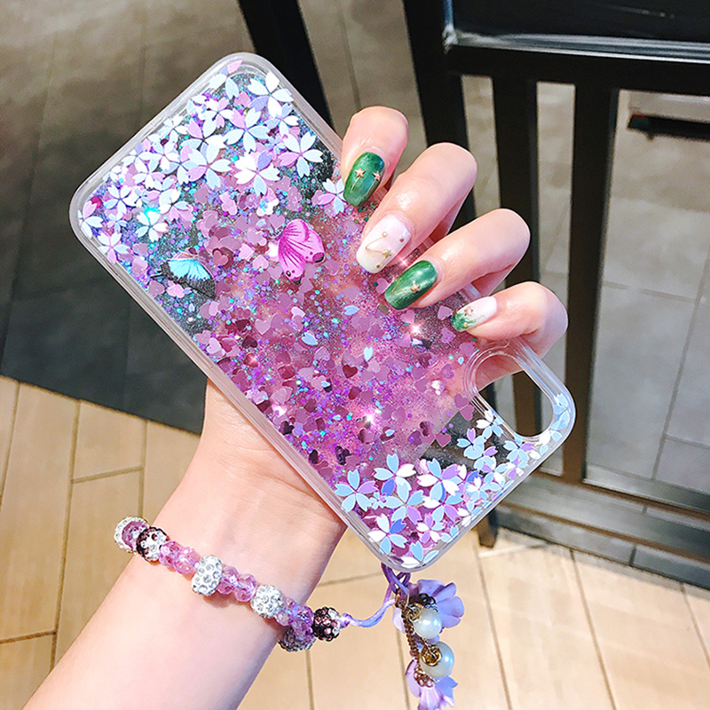 Perfect Glitter Flowing Sequins Cases Cover For iPhone 7 6 6S Plus IP6S15_5