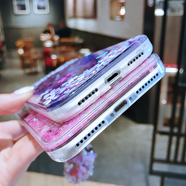 Perfect Glitter Flowing Sequins Cases Cover For iPhone 8 7 6 6S Plus IP6S15_7