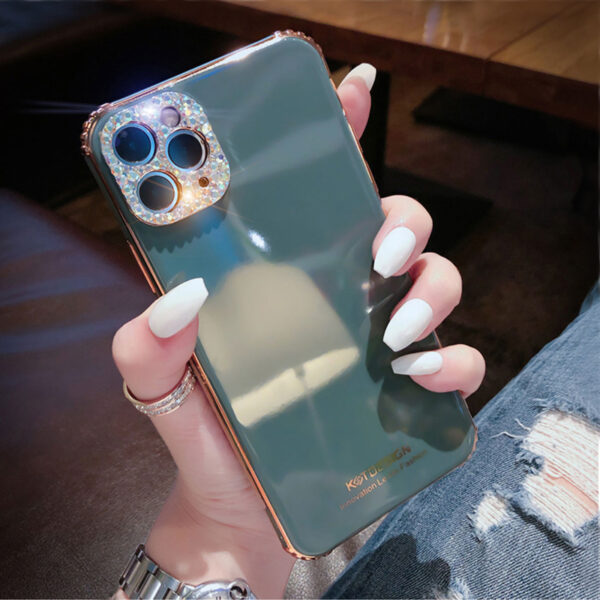 3D Diamond Pattern iPhone 8 7 6 Plus 5S SE Silicone Case Covers IPS712_2