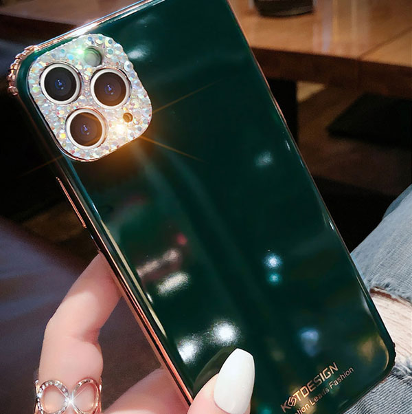 3D Diamond Pattern iPhone 8 7 6 Plus 5S SE Silicone Case Covers IPS712_3