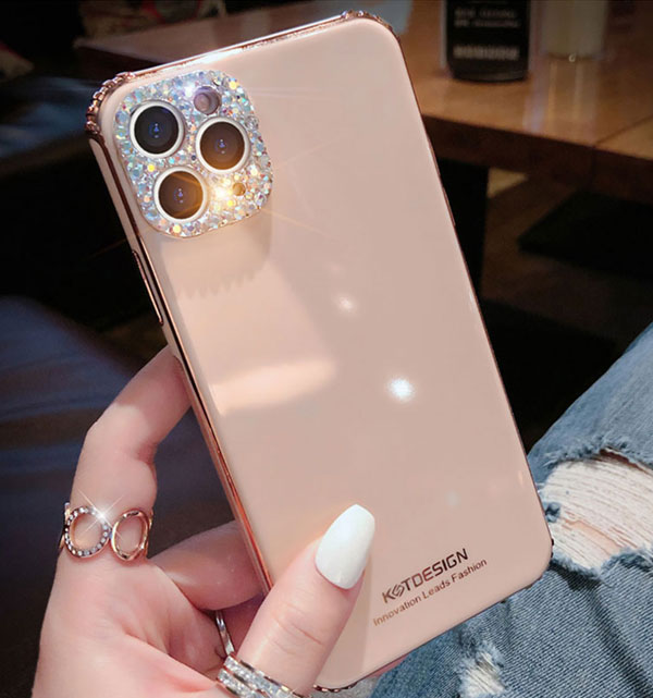 3D Diamond Pattern iPhone 8 7 6 Plus 5S SE Silicone Case Covers IPS712_5