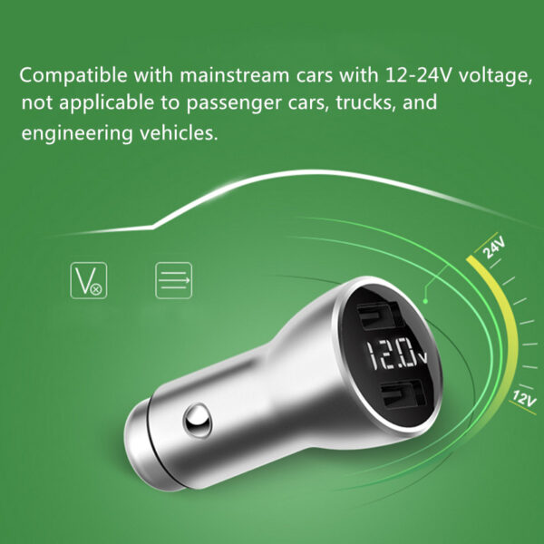 Monitor Car Voltage Cigarette Lighter Adapter With 2 Charging Port IPGC08_4