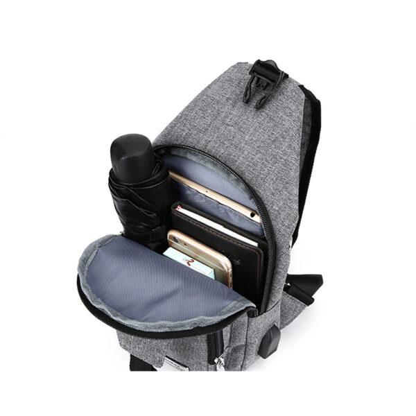 One Shoulder Leisure Messenger Backpack Chest Bag MFB06_5