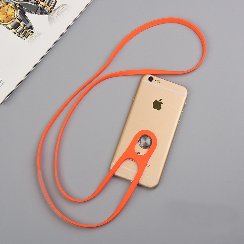Universal Cell Phone Silicone Neck Hanging Lanyard Anti Theft Lost MPR01_2