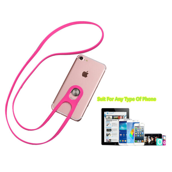 Universal Cell Phone Silicone Neck Hanging Lanyard Anti Theft Lost MPR01_4
