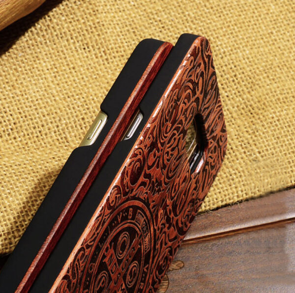 Creative Carved Samsung S8 S7 Edge S8+ Solid Wood Case SG803_8