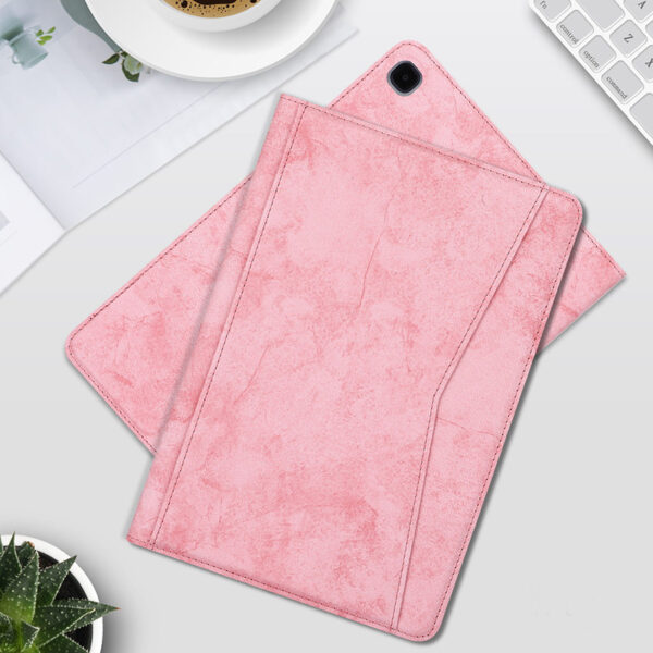 Best Samsung Galaxy Tab S7 S6 Leather Cover With Pen Slot SGTC04_5