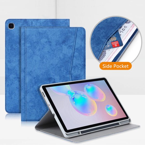 Best Samsung Galaxy Tab S7 S6 Leather Cover With Pen Slot SGTC04_6