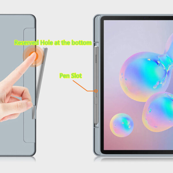 Best Samsung Galaxy Tab S7 S6 Leather Cover With Pen Slot SGTC04_7