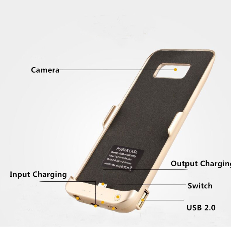 Charger Case Cover For Samsung S8 And S8+ With Stand IPGC09_8