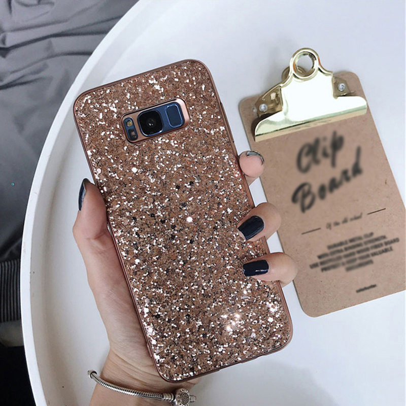 huge discount 01c42 098b2 Glitter Case Cover For Samsung Note 9 8 S9 S8 S7 Edge Plus SG805