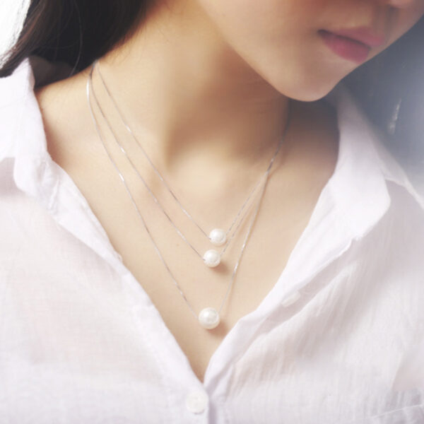 Gold Wedding Ring Crown Pattern Pendant Necklace For Girls As Gift NLC03_2