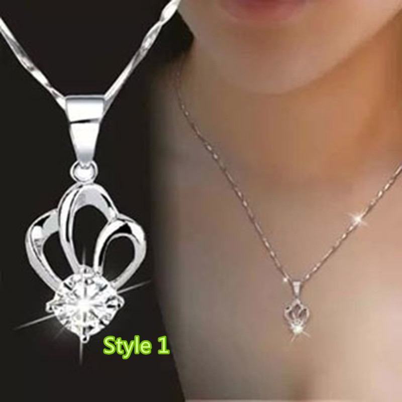 Simple Crown Clavicle Pendant Chain Accessories For Women And Girl NLC04