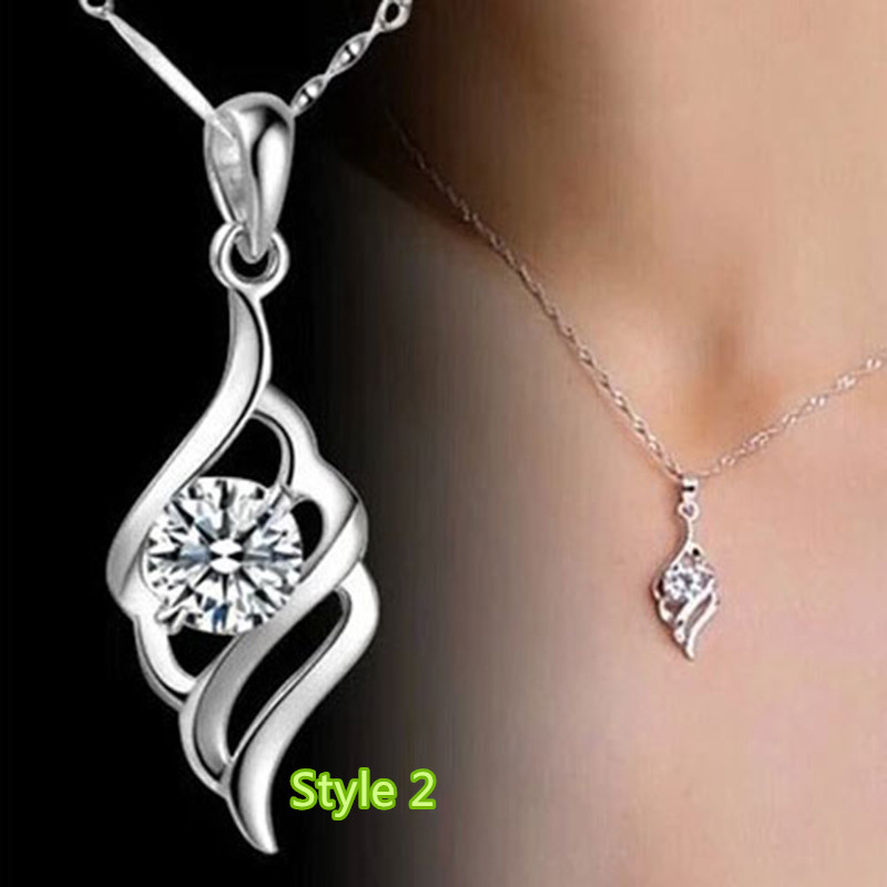 Simple Crown Clavicle Pendant Chain Accessories For Women And Girl NLC04_2