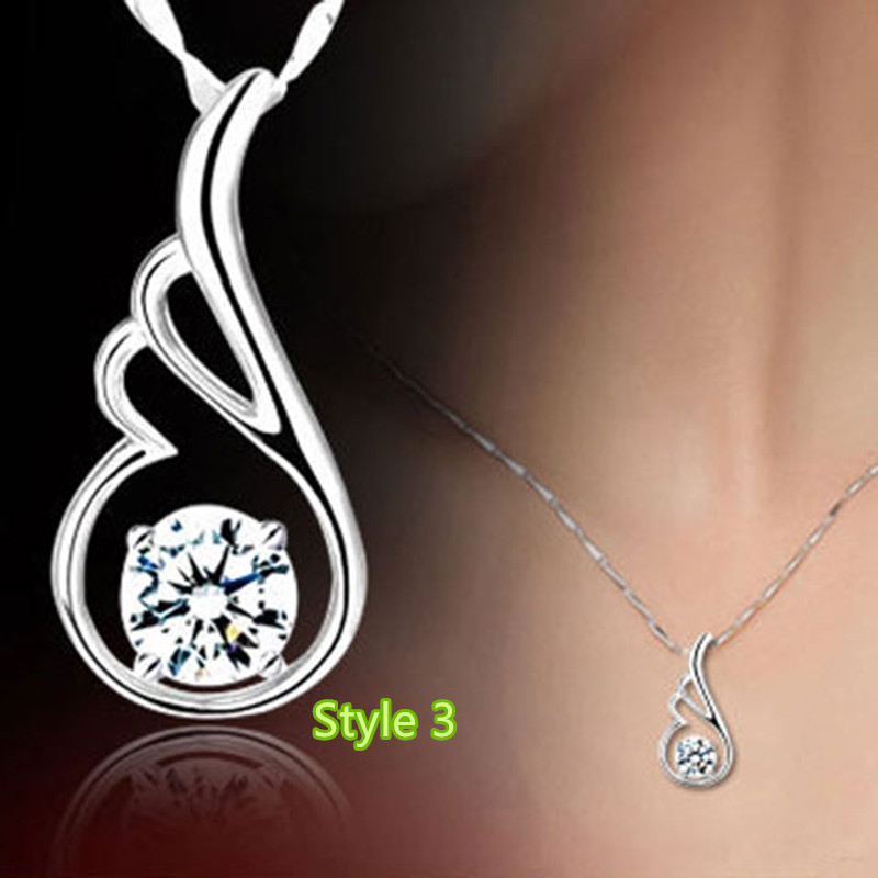 Simple Crown Clavicle Pendant Chain Accessories For Women And Girl NLC04_3