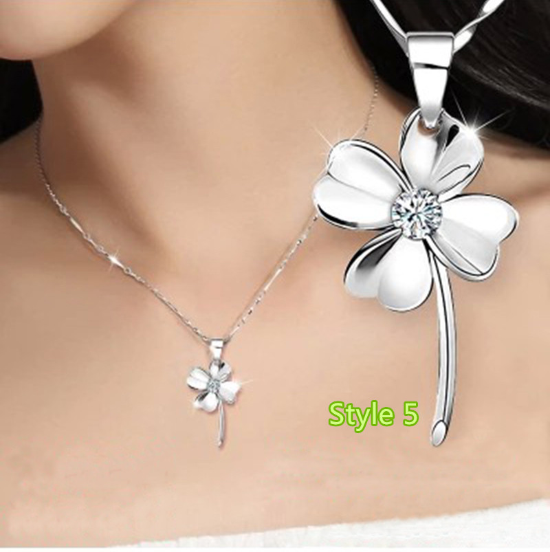 Simple Crown Clavicle Pendant Chain Accessories For Women And Girl NLC04_5