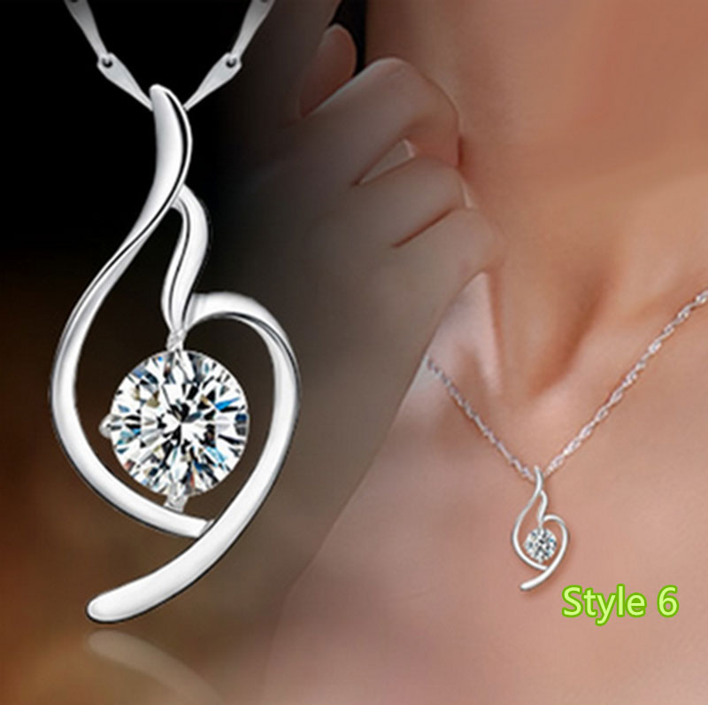 Simple Crown Clavicle Pendant Chain Accessories For Women And Girl NLC04_6
