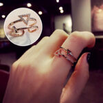 Personality Double Layer Rings Jewelry For Girl And Women NLC08