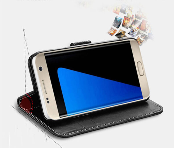 Protective Leather Case Cover For Samsung S8 Plus S7 S6 Edge SG807_8