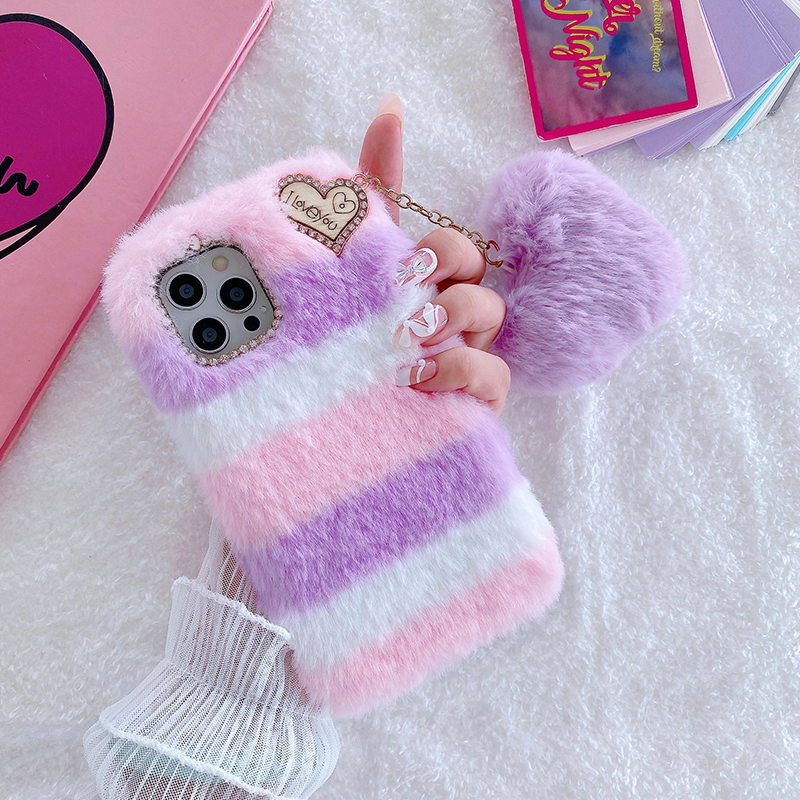 Luxury Plush Soft Cover For iPhone 12 11 XS Max For Girl IPS713_2