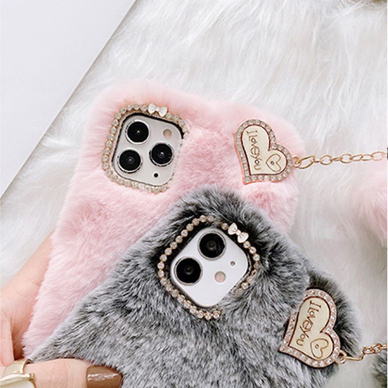 Luxury Plush Soft Cover For iPhone 12 11 XS Max For Girl IPS713_3