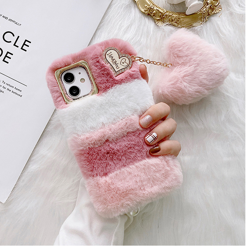 Luxury Plush Soft Cover For iPhone 12 11 XS Max For Girl IPS713_5