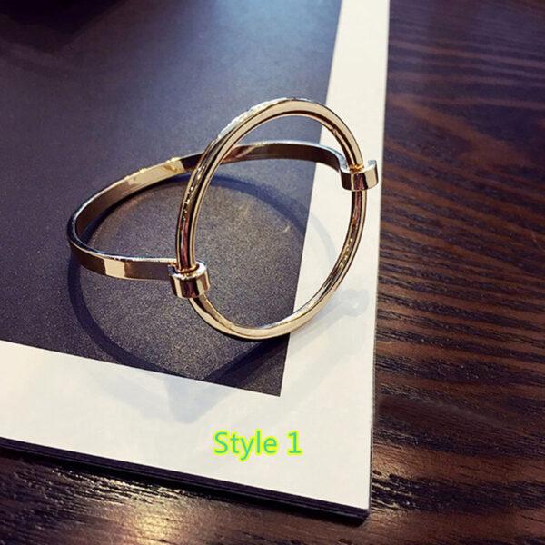 Simple Open Jewelry Bracelet For Women Girl As Gift NLC07