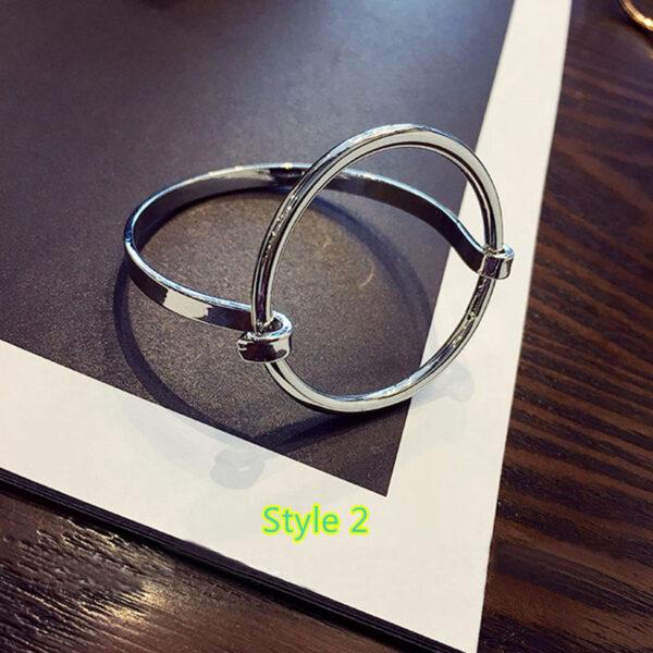 Simple Open Jewelry Bracelet For Women Girl As Gift NLC07_2