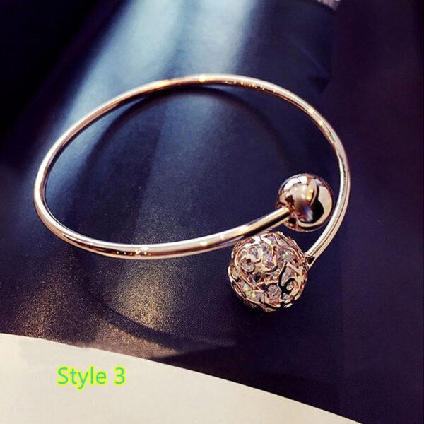 Simple Open Jewelry Bracelet For Women Girl As Gift NLC07_3