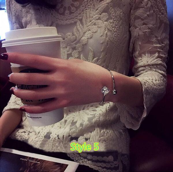 Simple Open Jewelry Bracelet For Women Girl As Gift NLC07_5