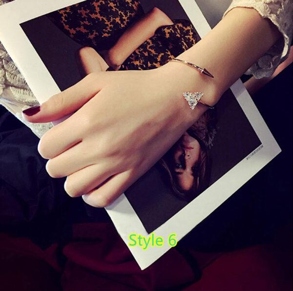 Simple Open Jewelry Bracelet For Women Girl As Gift NLC07_6
