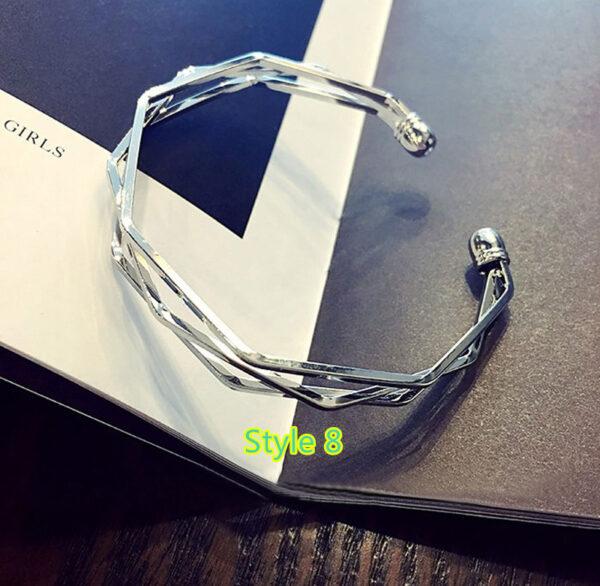 Simple Open Jewelry Bracelet For Women Girl As Gift NLC07_8