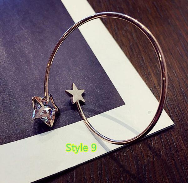Simple Open Jewelry Bracelet For Women Girl As Gift NLC07_9