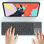 Folding Aluminum Alloy Bluetooth Keyboard For Tablet Phone PC PKB08