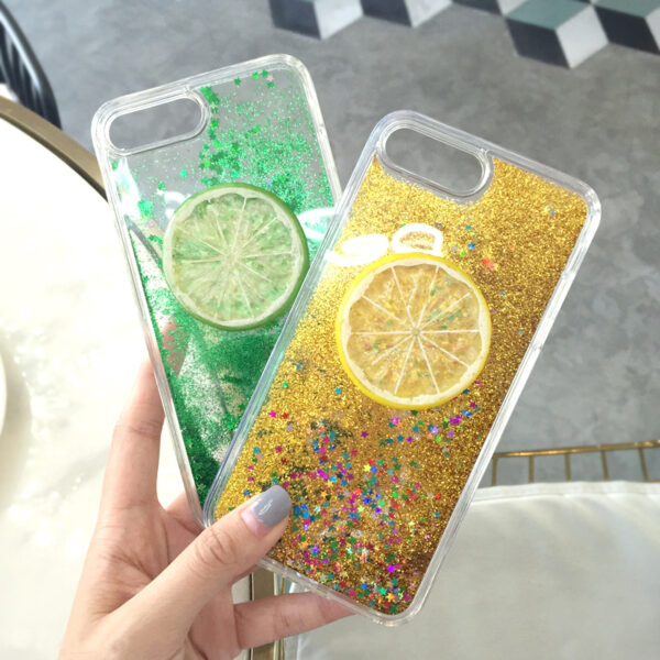Glorious Decompression Case With Sparkling Powder For iPhone 8 7 6S Plus IPS715
