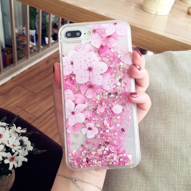 Glorious Decompression Case With Sparkling Powder For iPhone 7 6S Plus IPS715_4