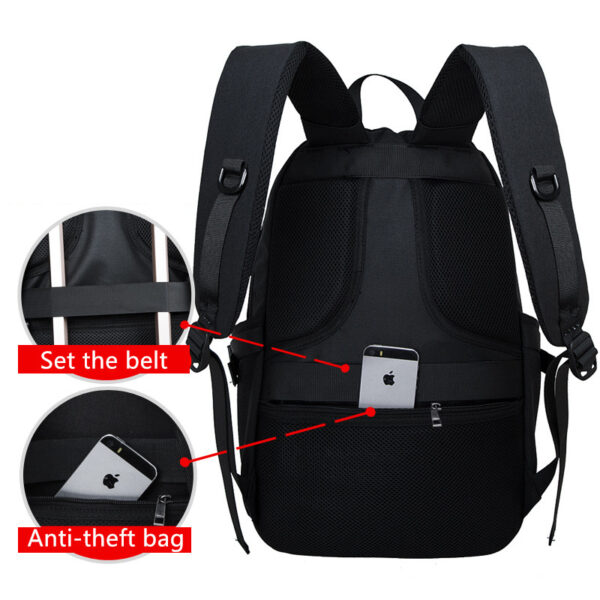 Night Light Pattern With Charge Port Travel Leisure Student Backpack MFB09_4