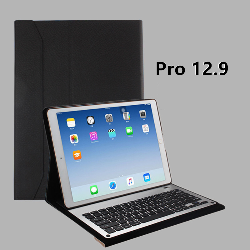 Protective Leather Case With Keyboard For iPad 2017 Air 2 iPad Pro 9.7 12.9 Inch IPCK06_4