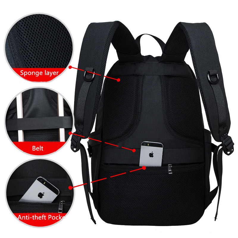 Solar Charge Backpack For Phone Business Travel Bag MFB08_6