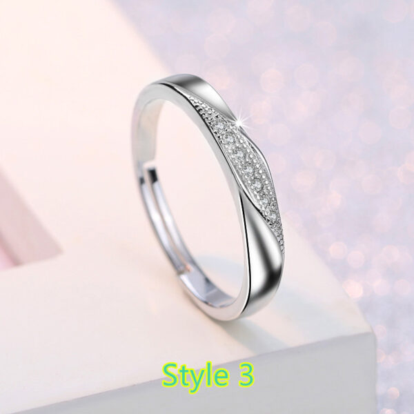 Sterling Silver Ring With Diamond Gift For Girl NLC09_3