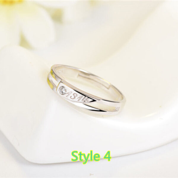 Sterling Silver Ring With Diamond Gift For Girl NLC09_4