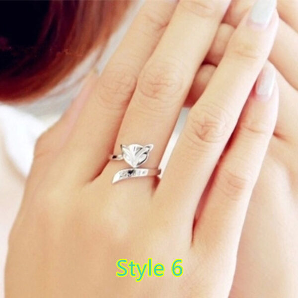 Sterling Silver Ring With Diamond Gift For Girl NLC09_6