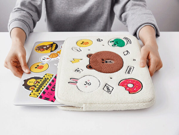 Cartoon Pattern Plush Macbook 12 Air 11 13 Pro 13 15 Touch Bag Cover MB1207_3