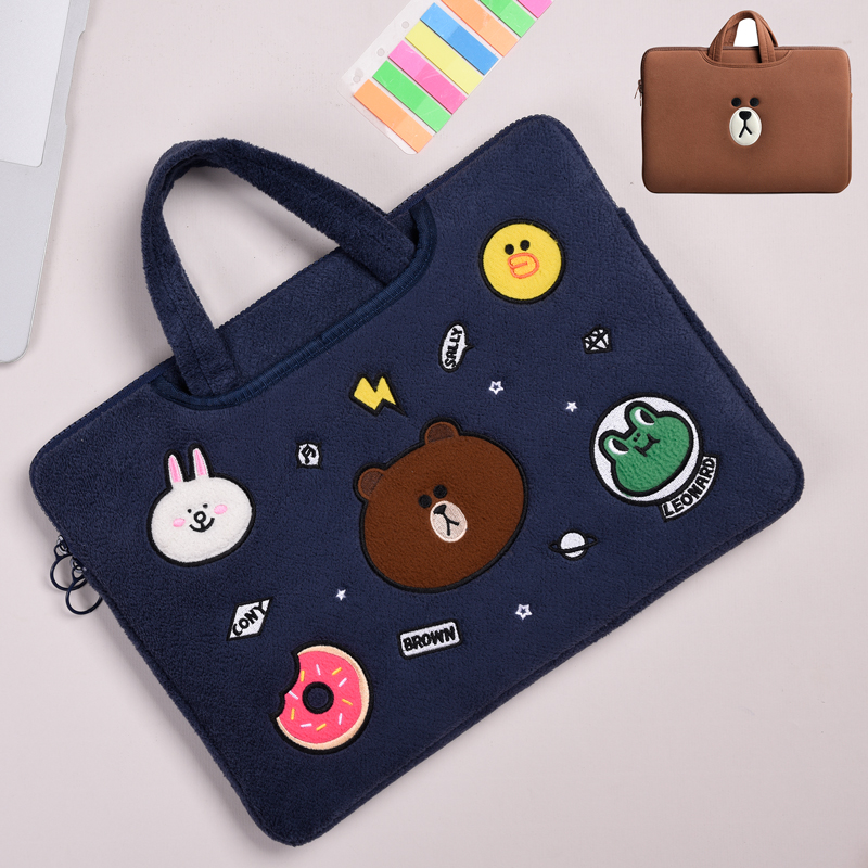 Cartoon Pattern Plush Macbook 12 Air 11 13 Pro 13 15 Touch Bag Cover MB1207_5